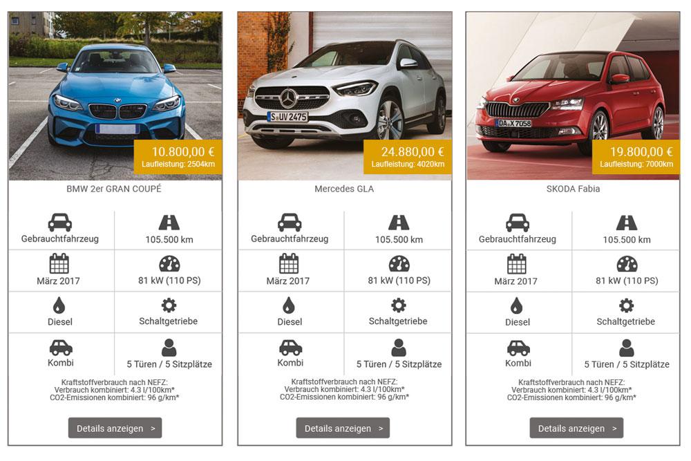 Top-Fahrzeug-Angebote auf dein-autokauf.de